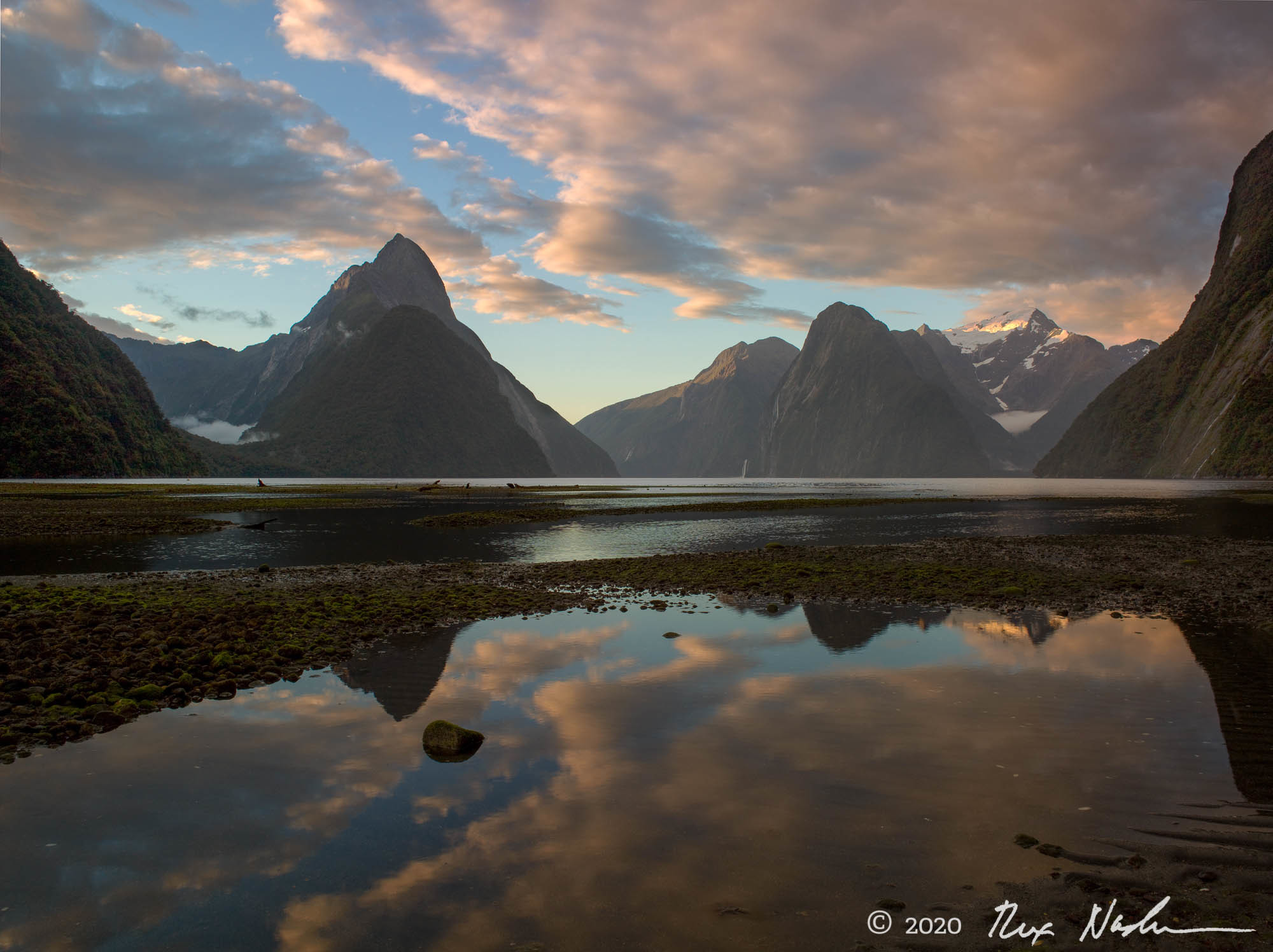 Evening, Milford Sound - South Island, New Zealand