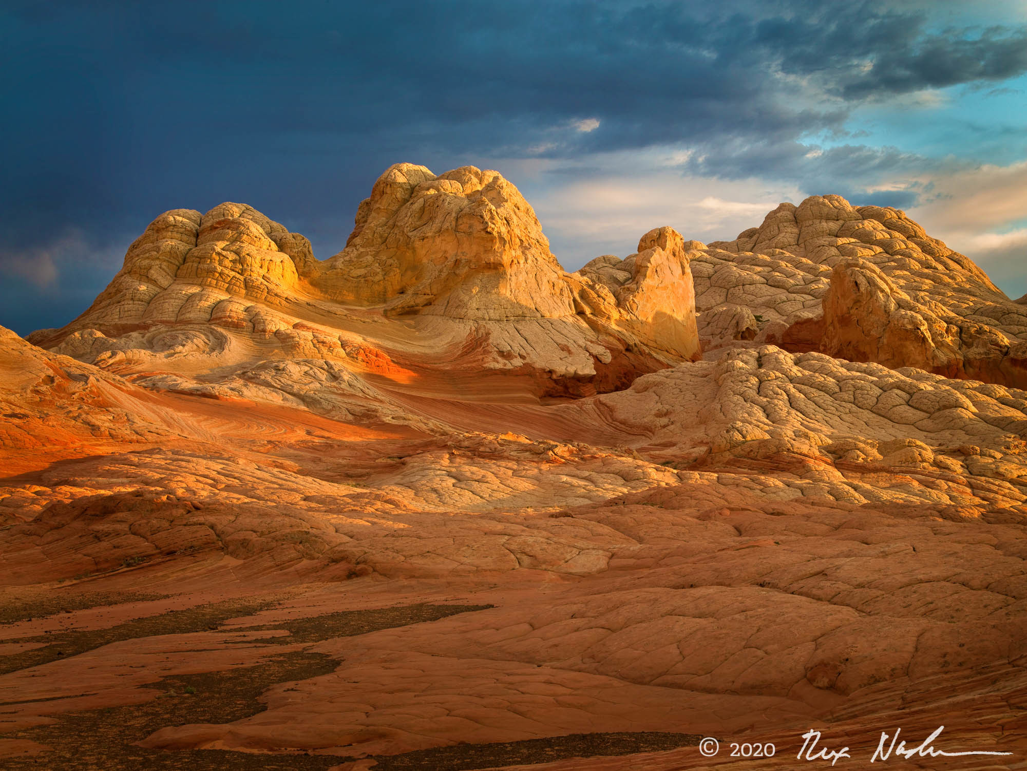 Storm, White Pocket - Sandstone Hills, Paria Wilderness