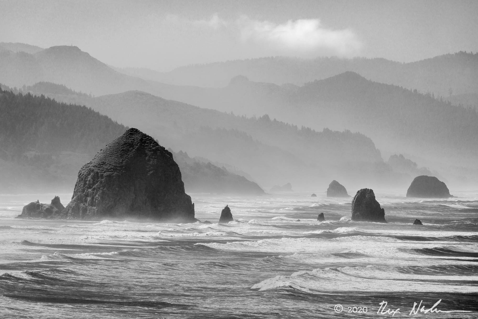 Headlands with Cloud - Oregon Coast